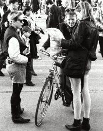 Berlin Women & Bike, Black & White Photo, Berlin