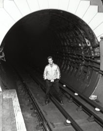 London young man over 3rd rail of tube