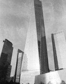 New York City Freedom Tower  Side View Full, Black & White Photo, New York City