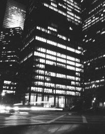 Seagram Building New York City at Night, Black & White Photo, New York City