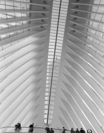 World Trade Center Station New York City Path Station, Black & White Photo, New York City