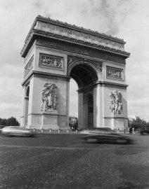 Arc de Triomphe Paris, Paris, black & White photo