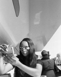 Woman Sun Glasses Selfie, Black & White Photo, Amsterdam