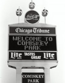 Chicago Comiskey Park Sign