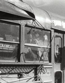 Chicago old school bus windows