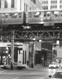 Chicago Loop Corner with elevated train