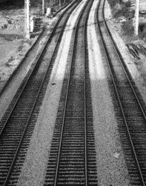 Chicago 3 Train Tracks