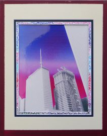 Prudential Building Blue Pink