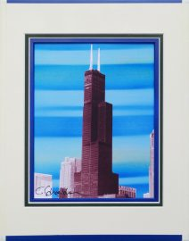 Willis Tower Blue Horizontal Stripes