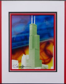 Willis Tower Air Brush Sky