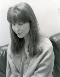 Woman in Sweater, Black & White Photo