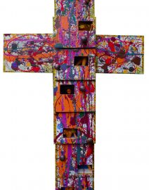 Barbie Cross 32x48 on 9 cigar boxes